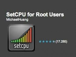 SetCPU — управление частотой процессора