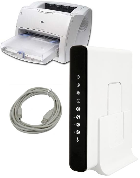 Принт-сервер на Sagemcom 2804