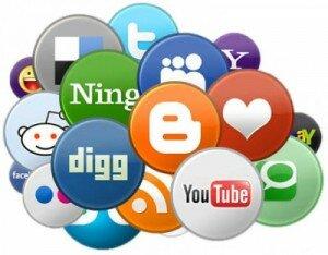 Скользящие кнопки социальных сетей для сайта