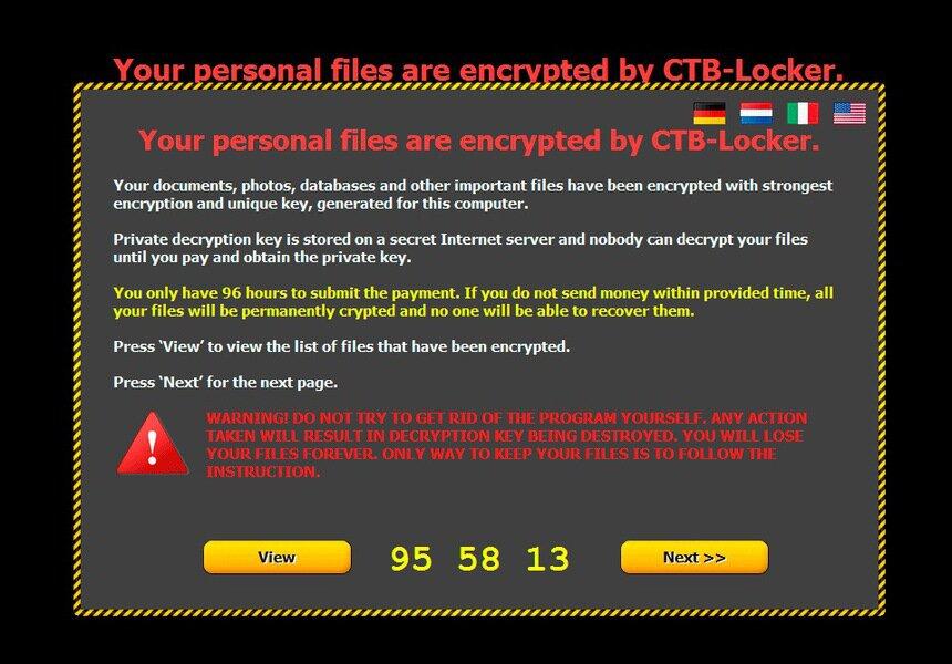 CTB-LOCKER — опасный локер-шифровальщик