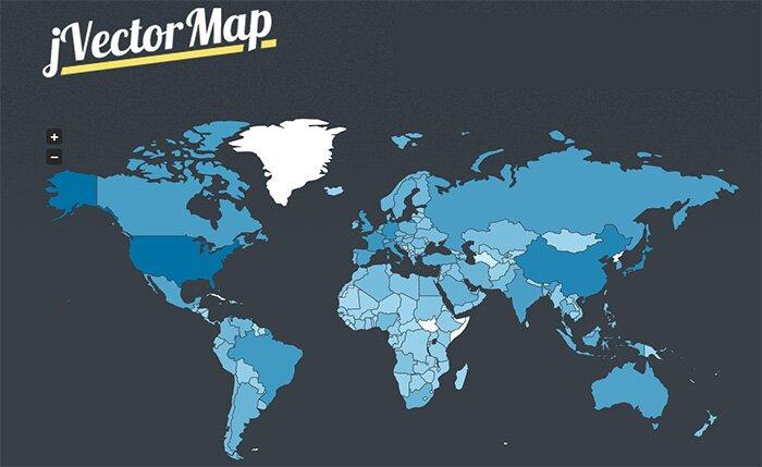 Интерактивные карты мира, Европы и США