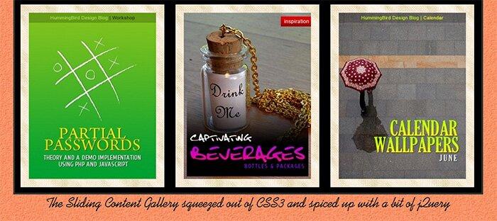 CSS3 jQuery описание изображений