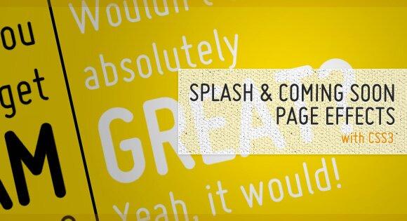 Оформляем страницу-заглушку при помощи CSS3. Примеры, решения.