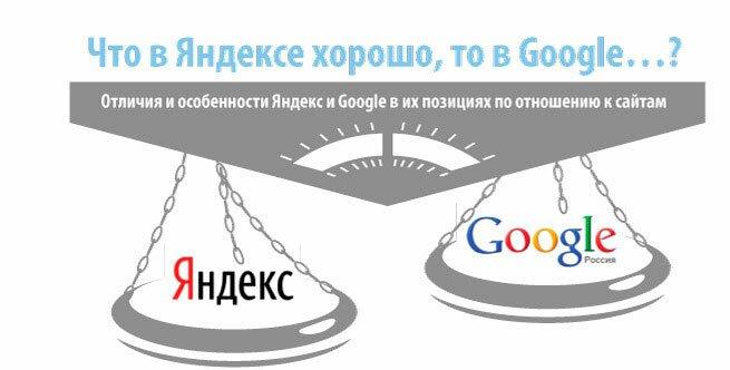 Что в Яндексе хорошо, то в Google...?